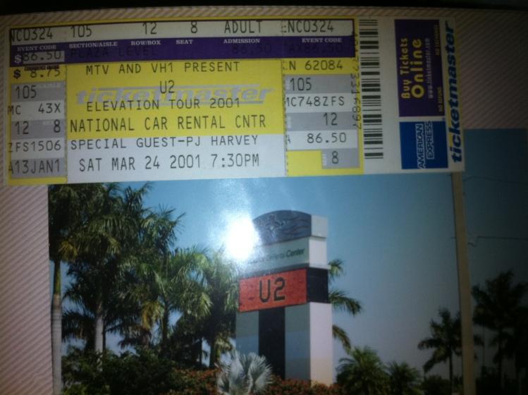 U2 Elevation Opening Night 3.24.01