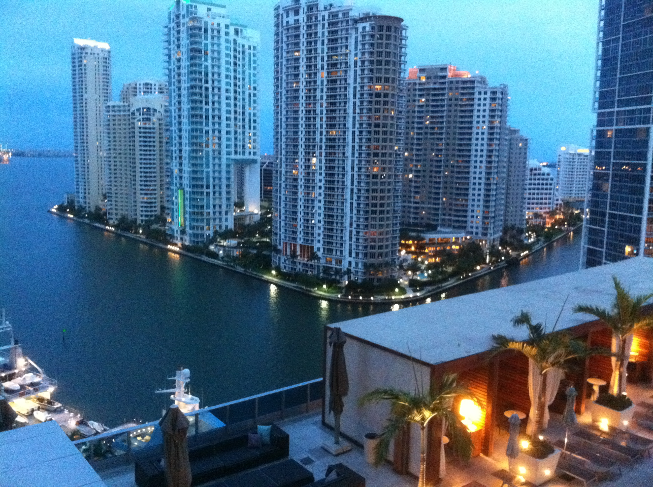 U2360usa from michigan to miami at the epic hotel on the for From the balcony