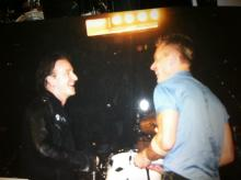 Bono and Larry share a laugh