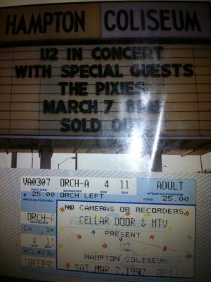 my 1st U2 show
